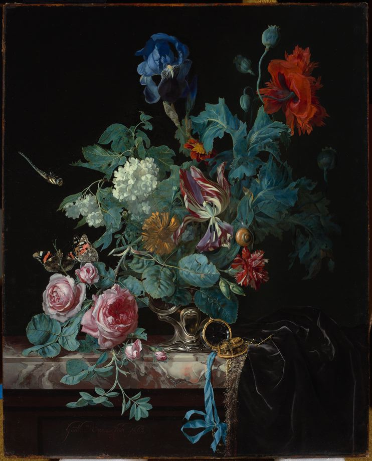 Flowers In A Silver Vase Willem Van Aelst Search The Collections