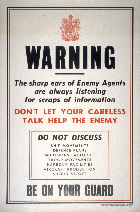 Warning The Sharp Ears Of Enemy Agents Are Always