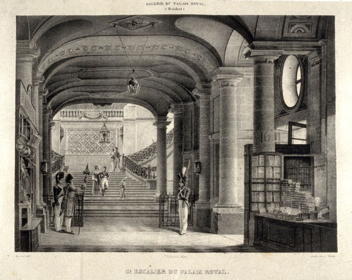 Grand escalier du palais royal fourth plate in the book galerie lithographi e de son - Galerie le garage orleans ...