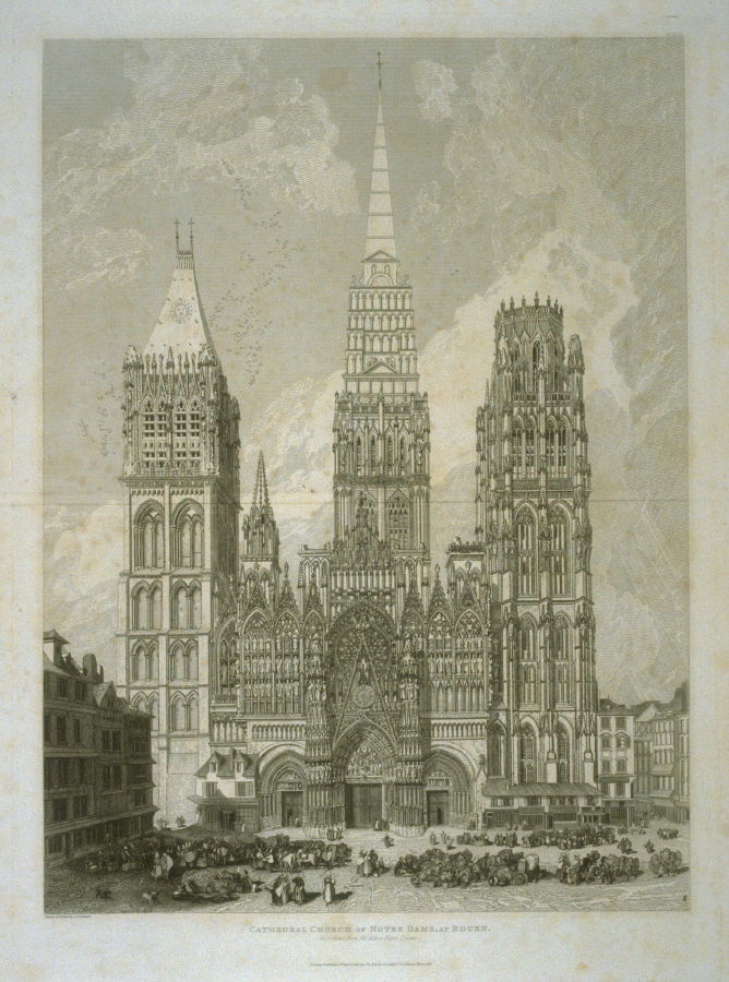 cathedral church of notre dame at rouen from 52 plates from architectural antiquities of. Black Bedroom Furniture Sets. Home Design Ideas