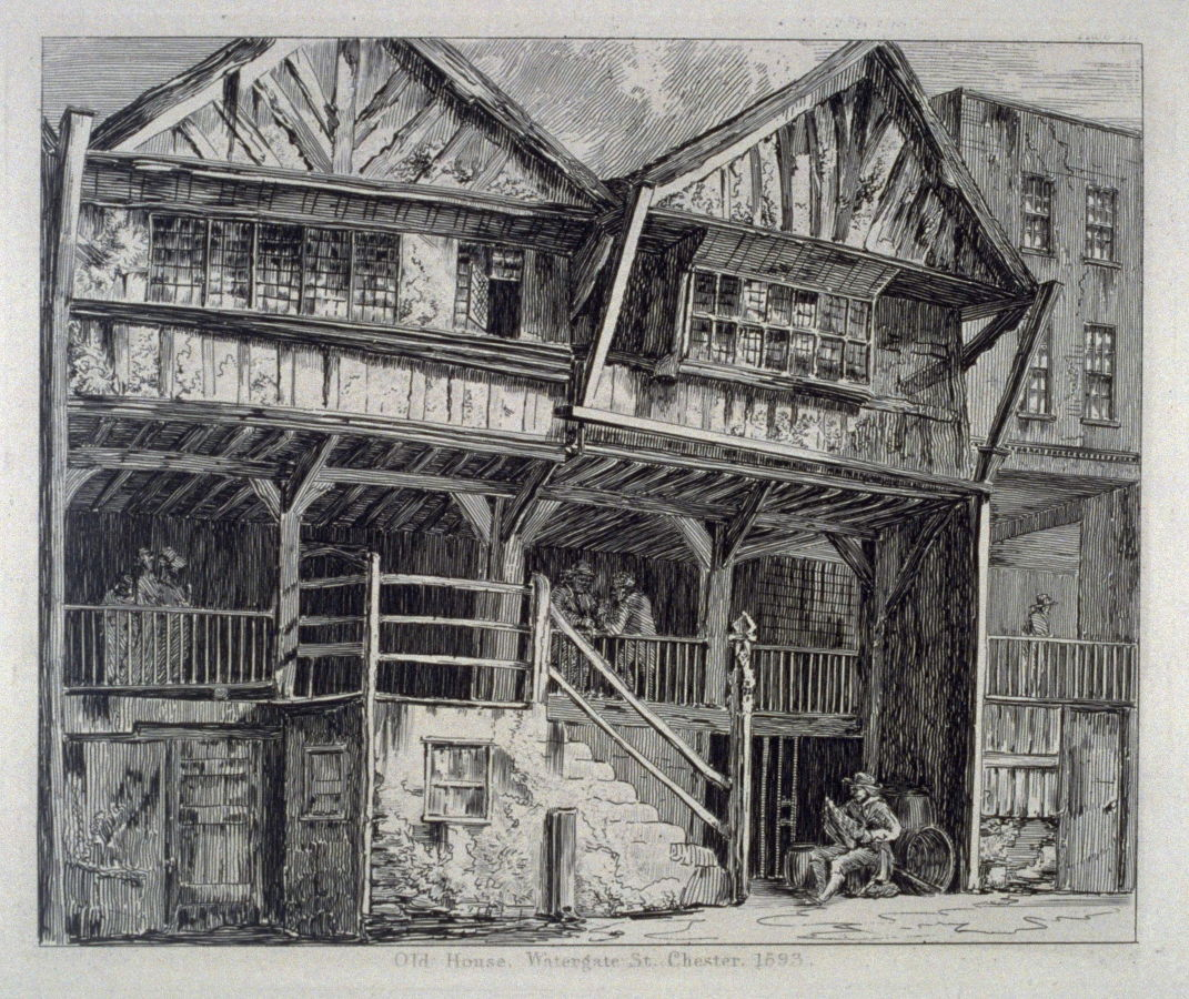 Old house watergate st from wanderings and pencillings for Classic house old street london