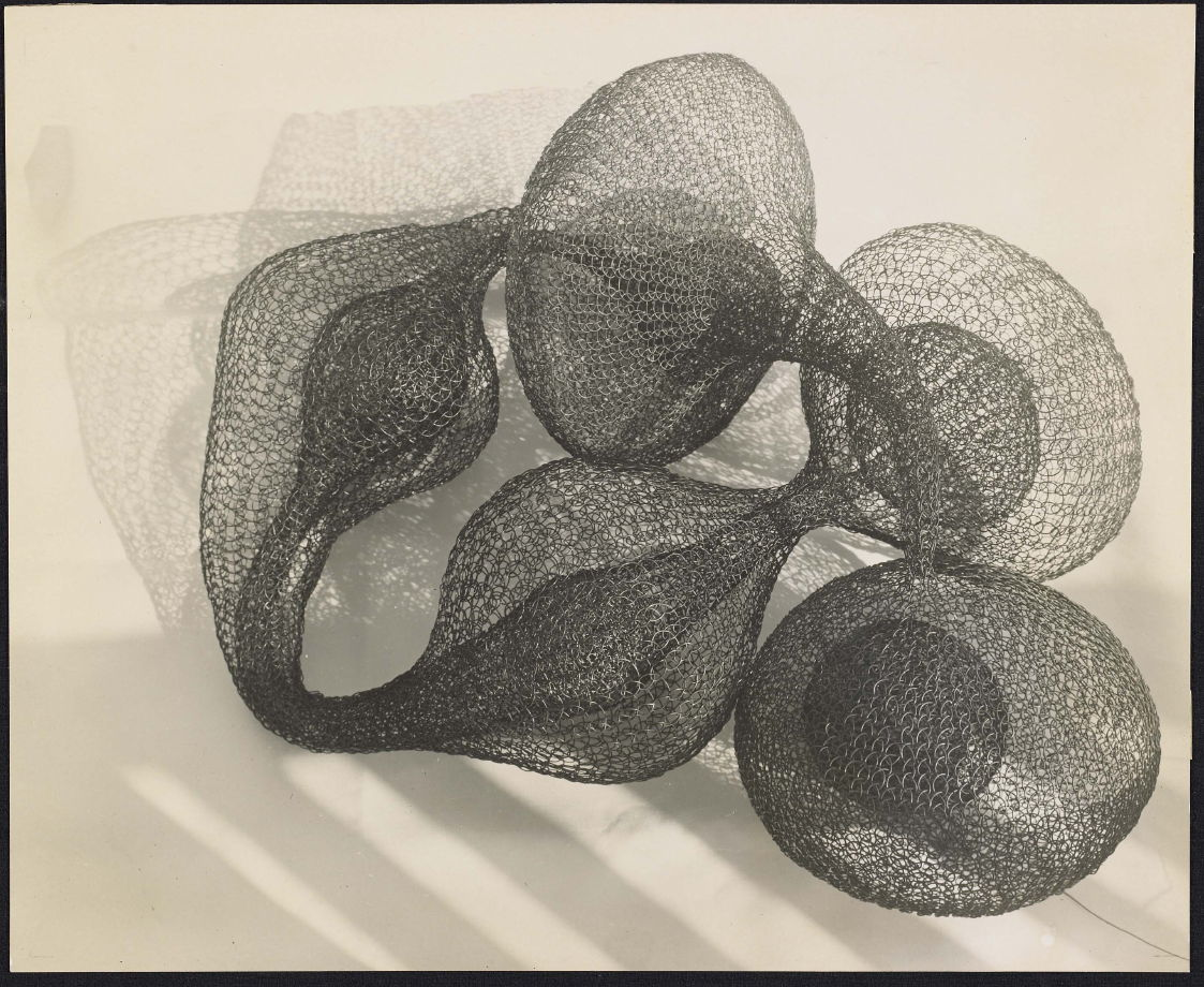 Untitled (Looped wire sculptural form on floor) - Imogen ...