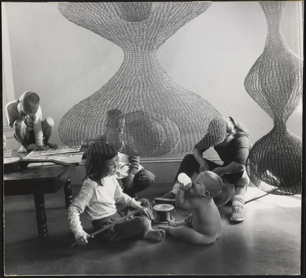 Untitled (Ruth Asawa with sculptures and children) - Imogen ...