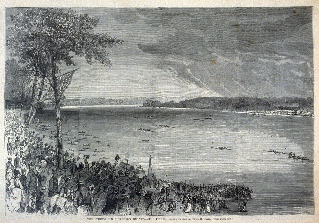The Springfield University Regatta - The Finish - p.669 from Harper's  Weekly (2 August 1873)