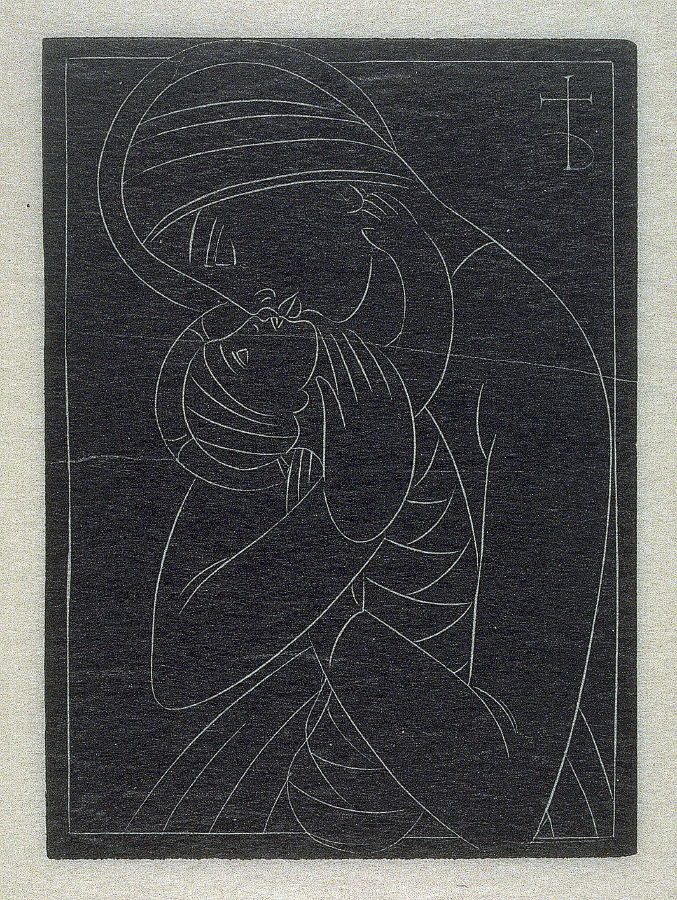 Christmas card: Madonna and Child, pl.51; D. 179: - Eric Gill ...
