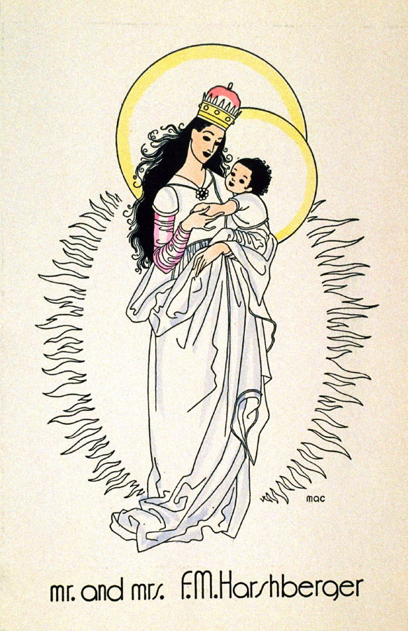 Christmas Card: Madonna and Child - Mac Harshberger | FAMSF Explore ...