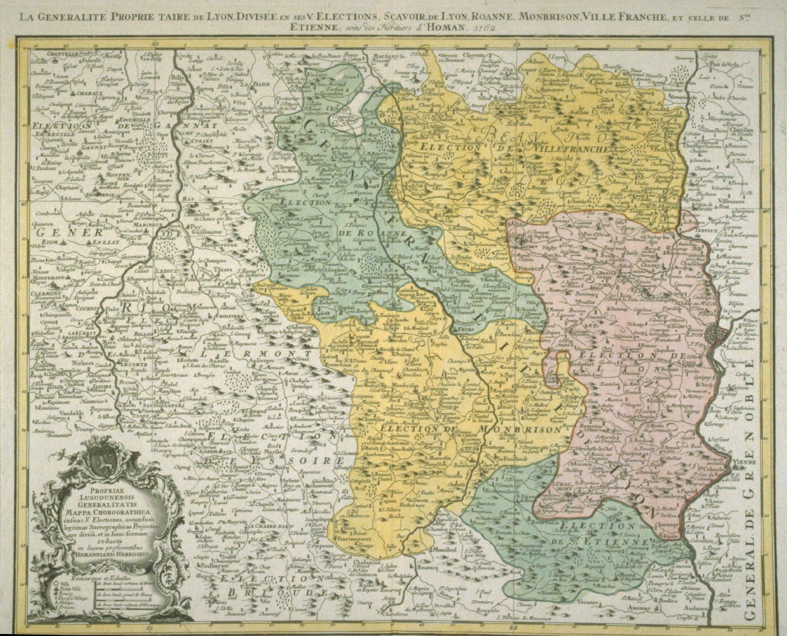 Map Of The Lyon Region Of France Map La Generalite Proprietaire