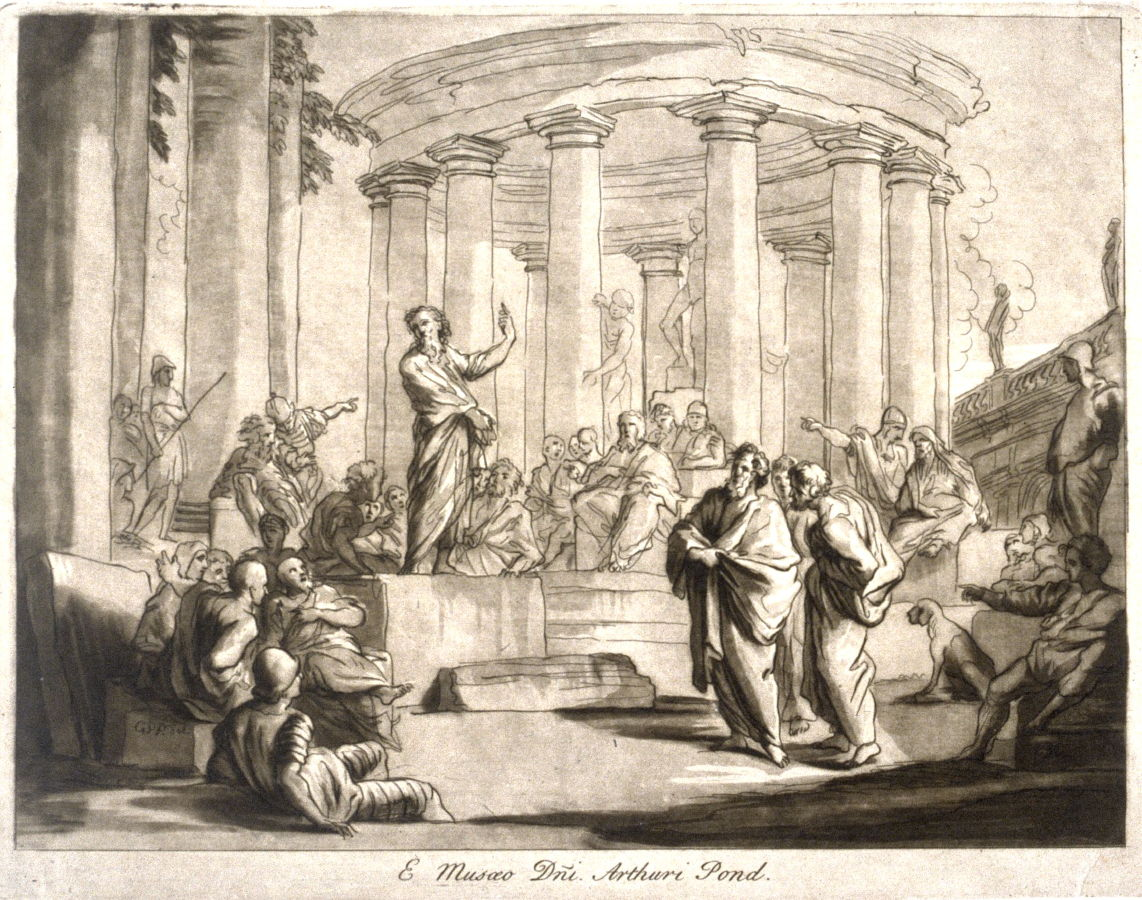 St Paul Preaching At Athens From The Series Prints In