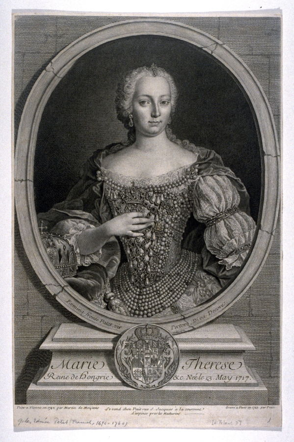 Portrait of Marie Therese, Emperess of Austria and Queen of Hungary ...
