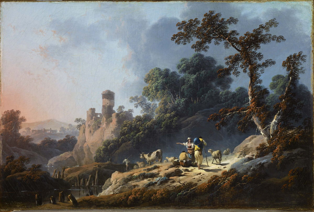 Landscape With Travelers And A Ruin Jean Baptiste