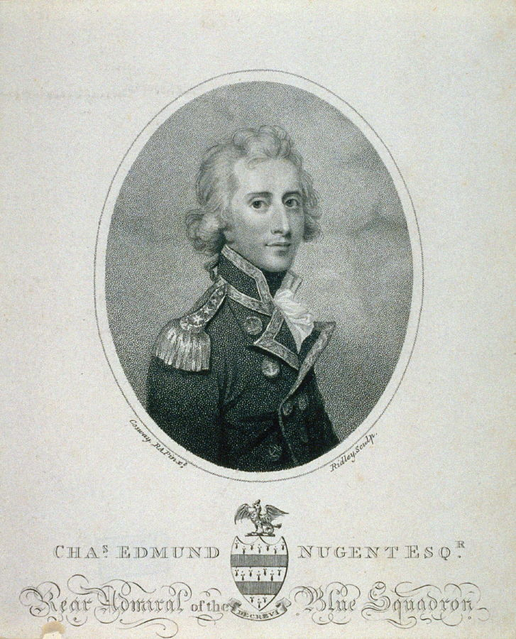 Charles Edmund Nugent Esquire Rear Admiral Of The Blue Squadron
