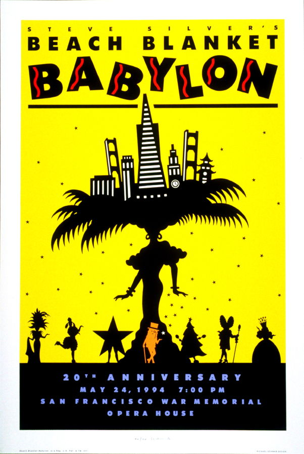 beach blanket babylon  poster for 20th anniversary of beach blanket babylon  san francisco