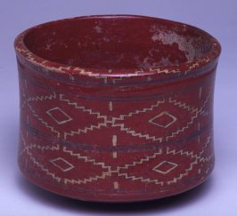 Pot with geometric design