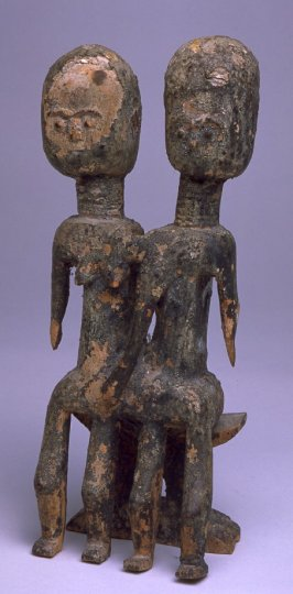 Two Figures Seated on a Bench