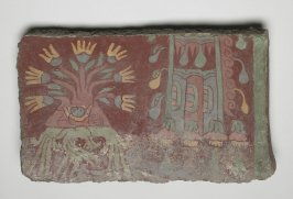 "Mural fragment [""flowering trees"" and descending water]"