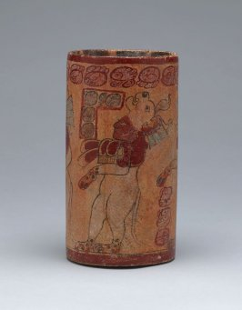 Vessel with procession of wayob