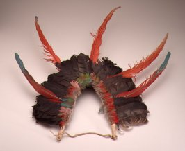 Feather vertical headdress