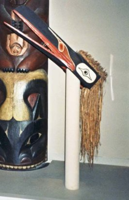 Forehead Mask (hamats'a) representing a mythical bird monster (huxwhukw)