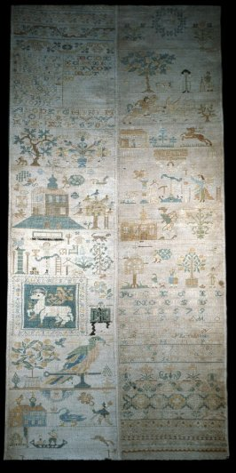 Sampler: figures and horses