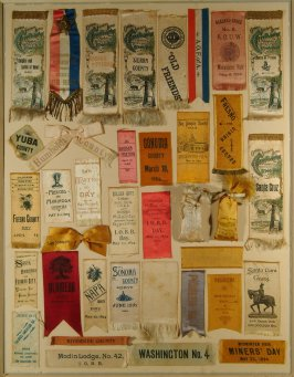Thirty seven badges and souvenirs of Fete Days of CMIE