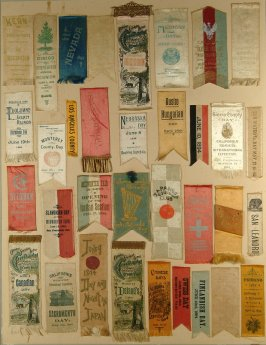 Thirty four badges and souvenirs of Fete Days of CMIE