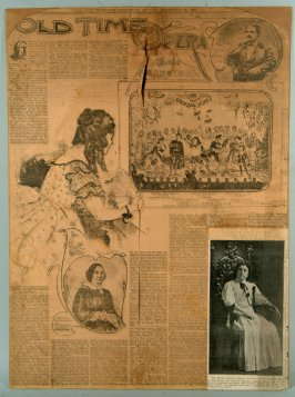 Page of San Francisco Chronicle, Nov. 16 1901; Old Time Opera in San Francisco