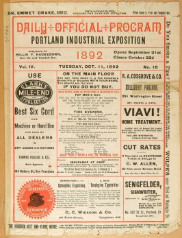 Theatre program: Daily Official Program; Portland Industrial Exposition