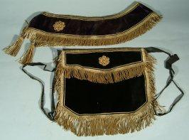 Odd Fellow's regalia - apron and sash