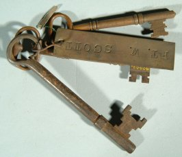 Key used in the military prison at Fort Winfield Scott