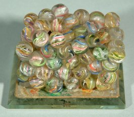 Fire melted glass marbles