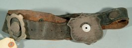 Championship belt awarded to Philo Jaoby, 10/21/1877, as theworld's best shot