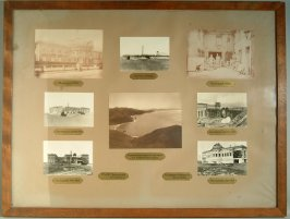Eight mounted photographs of the construction of the Legion of Honor from the 1920s