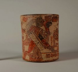 Vase with ballplayers and attendants