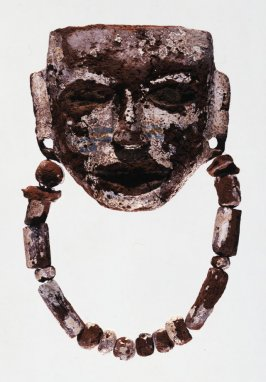 Burial mask with necklace