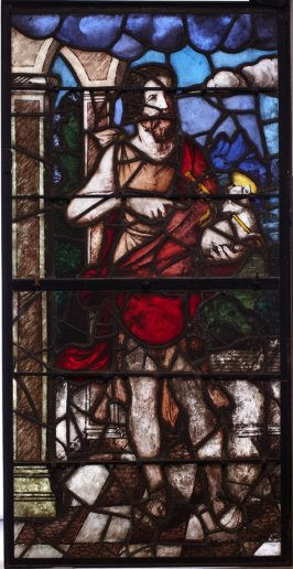 Stained glass window: St. John the Baptiste with Lamb