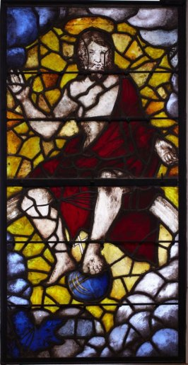 Stained glass window: Christ of the Last Judgement