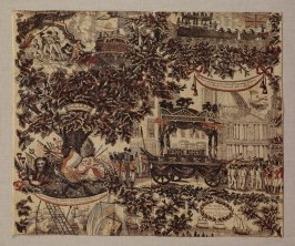 Textile fragment: Memorial to Lord Nelson