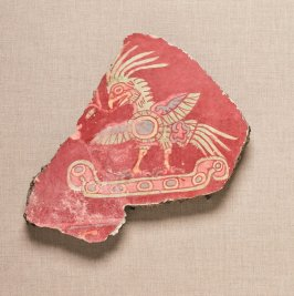 Mural fragment with warrior bird