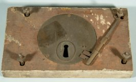Lock and key from Merchant's Exchange Building