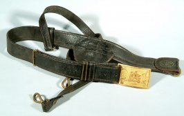 Belt with buckle inscribed G.A.R.