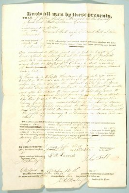 Deed dated 1835