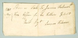 Receipt dated 1840