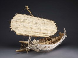 Outrigger canoe model - Nagega
