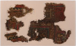 Three Fragments of a Central Asian carpet