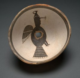 Bowl (Human-Avian Composite Figure)