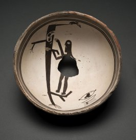 Bowl (Figure and Tree with Birds)