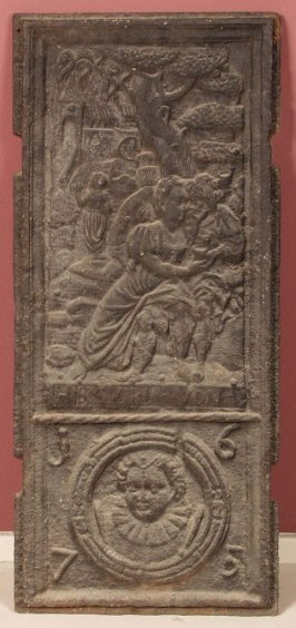 Panel showing lovers in forest