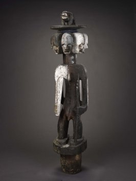 Shrine figure or bush spirit with seven heads