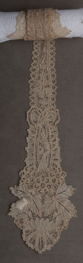 Lappet, rose point lace