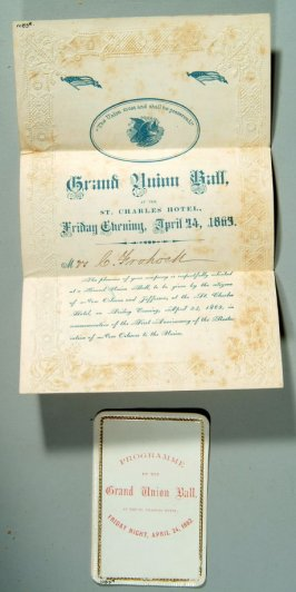 Program of Grand Union Ball, St. Charles Hotel, April 24